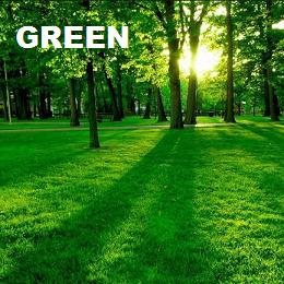 The color green and its attributes